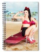Sexy Beach Pin Up Girl Wearing High Heels Spiral Notebook