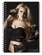Sexy Blond Secret Agent Spiral Notebook