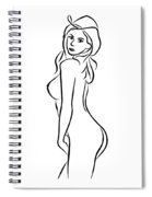 Sexy Cowgirl Illustration Spiral Notebook