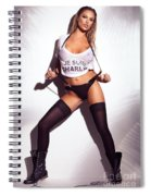 Sexy Woman In Wet Je Suis Charlie Shirt And Stockings Charlie Riina Spiral Notebook