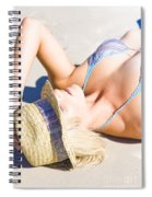 Sexy Woman On Sand Spiral Notebook