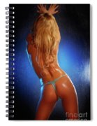 Sexy Young Woman Back Spiral Notebook