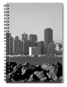 Sf Skyline  Bw Spiral Notebook