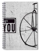 Shabby Chic, Old Bicycle No 01 Spiral Notebook