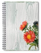 Shabby Chic Wildflowers On Wood Spiral Notebook