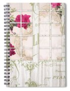 Shabby Cottage French Doors Spiral Notebook