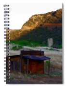 Shack In The Canyons Spiral Notebook