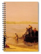 Shad Fishing At Gloucester On The Delaware River 1881 Spiral Notebook