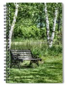 Shaded Bench Spiral Notebook