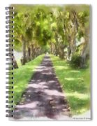 Shaded Walkway To Princeville Market Spiral Notebook