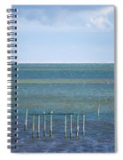 Shades Of Blue On The Horizon Spiral Notebook