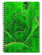 Shades Of Green Stained Glass Spiral Notebook