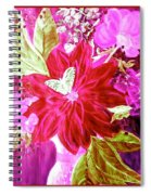 Shades Of Pink Flowers Spiral Notebook