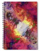 Shades Of Red Abstract Spiral Notebook