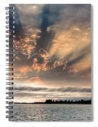 Shadow Cloud Over Humboldt Bay Spiral Notebook