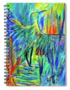 Shadow Heron Spiral Notebook