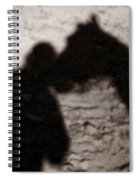 Shadow Of Horse And Girl - Vertical Spiral Notebook