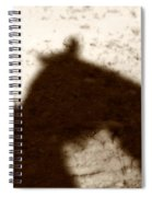 Shadow Of Horse And Girl Spiral Notebook