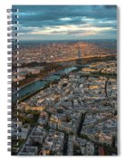 Shadow Of The Eiffel Tower Spiral Notebook