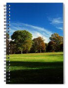Shadows And Trees Of The Afternoon - Monmouth Battlefield Park Spiral Notebook