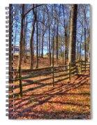 Shadows In Autumn Spiral Notebook