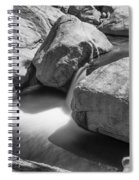 Shadows Of A Creek In Black And White Spiral Notebook