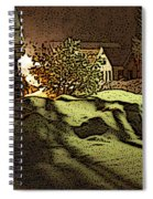 Shadows Of Winters Night Spiral Notebook