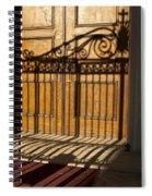 Shadows On A Wood Door Spiral Notebook