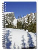 Shadows On Snow Spiral Notebook