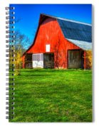 Shadows On The Barn Tennessee Farm Art Spiral Notebook