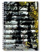 Shadows On The Past Posterized Spiral Notebook