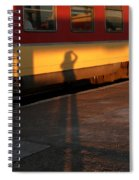 Shadows On The Platform 2 Spiral Notebook