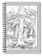Shady Forest Of Trees Spiral Notebook