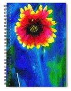 Shaggy Moon For A Shaggy Flower Spiral Notebook