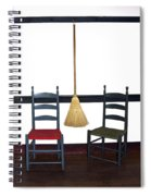Shaker Chairs And Broom Spiral Notebook