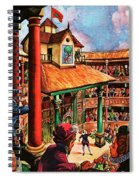 Shakespeare Performing At The Globe Theater Spiral Notebook