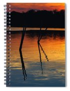 Shallow Water Sunset Spiral Notebook