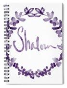 Shalom Wreath- Art By Linda Woods Spiral Notebook