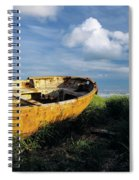 Shanghai Boat On Beach Spiral Notebook