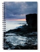 Shaped By The Waves Spiral Notebook