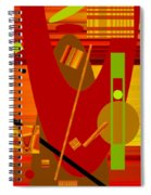 Shapes And Patterns In Red Spiral Notebook