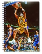Shaquille O'neal Los Angeles Lakers Oil Art Spiral Notebook