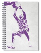 Shaquille O'neal Los Angeles Lakers Pixel Art Spiral Notebook