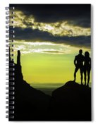 Sharing A Monument Valley Sunrise Spiral Notebook