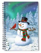 Sharing The Wonder - Christmas Snowman And Birds Spiral Notebook