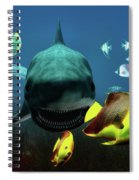 Shark And Fishes Spiral Notebook