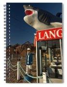 Shark On Top Of A Restaurant Spiral Notebook