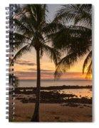 Sharks Cove Sunset 3 - Oahu Hawaii Spiral Notebook