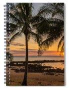 Sharks Cove Sunset 4 - Oahu Hawaii Spiral Notebook
