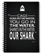 Sharks In The Water Spiral Notebook